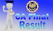 CA final result 2018 Announced Today