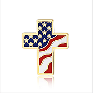 Buy 24k Gold Plated American Flag Lapel Pin | us flag pin | On Sale