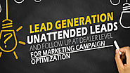 Lead Generation, Unattended Leads and Follow Up at Dealer Level for Marketing Campaign Optimization