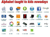 Alphabet taught to kids these days, lol!...