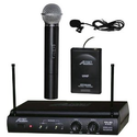 Amazon.com: Audio2000 AWM-6032UL UHF Dual Channel Wireless Microphone System with One Handheld & One Lapel (Lavalier)...