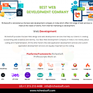 Best Web Development Company in India | Richestsoft