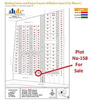 Book plot no 158 near main entrance gate in dholera smart city phase 1.