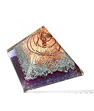 PURE COPPER AND BRASS ORGONE PYRAMIDS WITH POINT