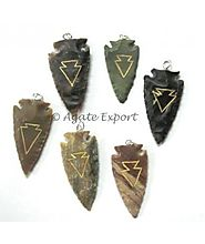 Wholesale Arrowheads Carved Pendants