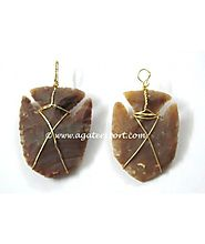 FISH ARROWHEADS WIRE WRAP PENDANTS