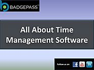 Time Manager Software - A Brief Knowledge