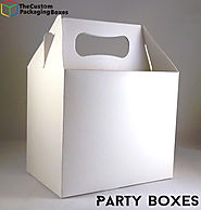 Website at https://thecustompackagingboxes.com/custom-boxes/party-boxes/