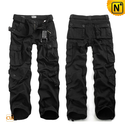 Black Cargo Pants Trousers for Men CW100006