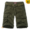 Mens Loose Fit Cotton Cargo Shorts CW140172