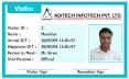 Working System of Biometric Visitor Management System