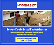 Sewer & Drain Install Westchester
