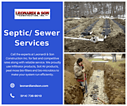 Septic/Sewer Services by Leonardi & Sons