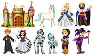 Different characters in fairy tales Vector | Free Download