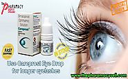 Faster the growth of eye lashes with Careprost