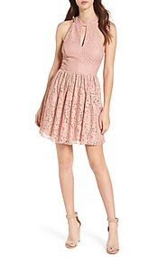 Speechless Gigi Lace Fit & Flare Dress | Nordstrom