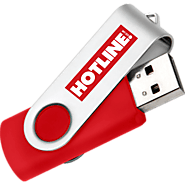 Twisty USB Promotional Memory Sticks - | Hotline