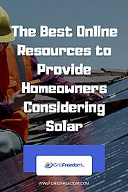 The Best Online Resources to Provide Homeowners Considering Solar