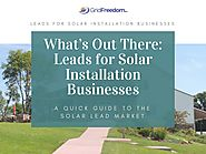 What's Out There: Leads for Solar Installation Businesses