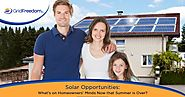 Solar Opportunities: What's on Homeowners' Minds Now that Summer is Over?