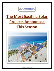 The Most Exciting Solar Projects Announced this Season