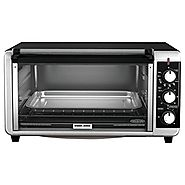 Black & Decker TO3250XSB 8-Slice Extra Wide Toaster Oven, Black/Silver