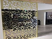 Laser Cut Stainless Steel Wall Partition