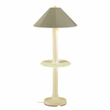 Amazon.com: Catalina Large Outdoor Floor Lamp with Attached Tray Table Bisque --Basil Linen: Patio, Lawn & Garden