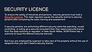 Security Licence
