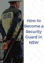 Security Guard Licence in NSW