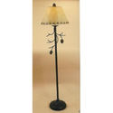 Pine Cone Tree Branch Pinecone Pinecones Twig Cabin Lodge Home Decor Standing Metal Floor Lamp with Shade Home Decor ...