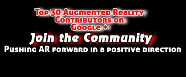 Headline for Top 30 Augmented Reality Contributors on Google +