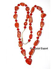 Buy Akik Red Moti Necklace Online at crystal export