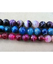 Buy Multi Stone Banded Round Beads Online at Crystal Export