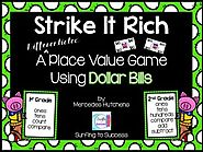 Place Value Game with Dollar Bills by Mercedes Hutchens | TpT