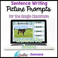 Respond to a Picture Prompt AROUND THE FARM Sentence Writing Google Classroom