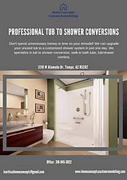 Professional Tub to Shower Conversions In Gilbert AZ