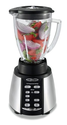 Oster BVCB07-Z Counterforms 6-Cup Glass Jar 7-Speed Blender, Brushed Stainless/Black