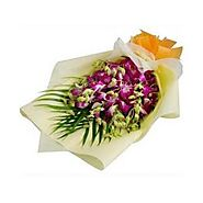 Send Orchids Bunch Extravaganza Online Same Day Delivery - OyeGifts.com