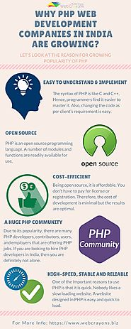 Why PHP Web Development Companies in India are growing? | Web Crayons Biz