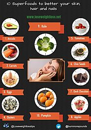 10 Superfoods for healthy skin, hair and nails | Lose Weight Loss