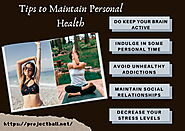 Tips to Maintain Personal Health | ProjectBall