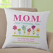 Most Outstanding Mom Throw Pillow