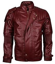 Guardians Of the Galaxy Star-Lord Chris Pratt Faux Leather Jacket Fashion Cosplay Costume