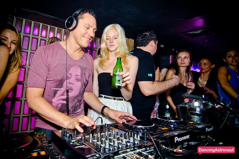 Headline for Caption Contest: Tiesto at Lavo NY