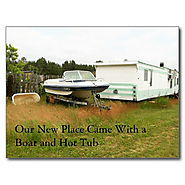 Change of Address Card: Boat and Hot Tub