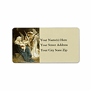 Angels Serenade Mary Vintage Address Label