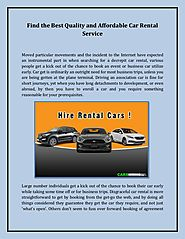 Find the Best Quality and Affordable Car Rental Service
