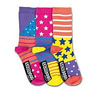 Girls Novelty Socks| Colorful Creative Fun Socks | Oddsocks