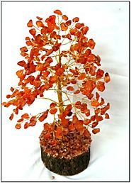 Red Carnailian Chips Gemstone Tree